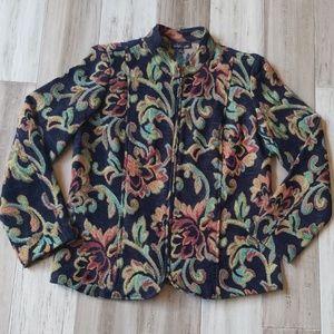 Vintage Violet B Petite Zip Down Blazer Jacket